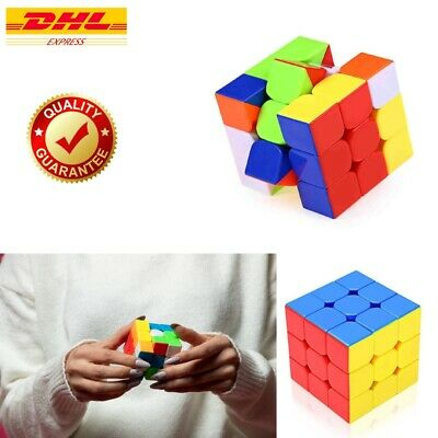 £0.75 • Buy Rubiks Cube Magic Rubic Mind Game Brain Exercise Puzzle 3x3 Stand Speed Box 100%