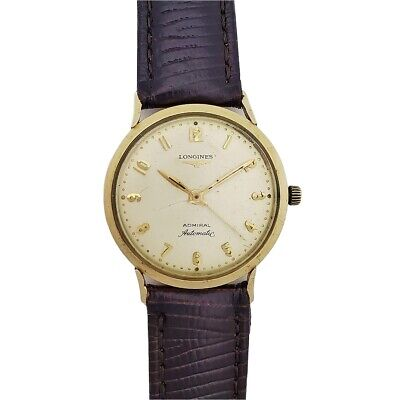 $ CDN129.15 • Buy Vintage 1950s Longines Admiral 1200 Automatic Gold Filled Running Wrist Watch