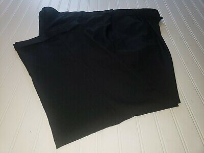$12 • Buy Haggar Mens Dress Pants, Black, Pleated And Cuffed, Size 46X29, Poly Blend, GUC
