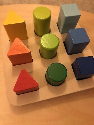 £5 • Buy Playtive Shape Sorter Wooden Montessori Sizing Toy With Box