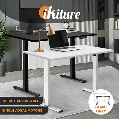 AU195.90 • Buy Oikiture Office Standing Desk Height Adjustable Sit Stand Motorised Frame Only