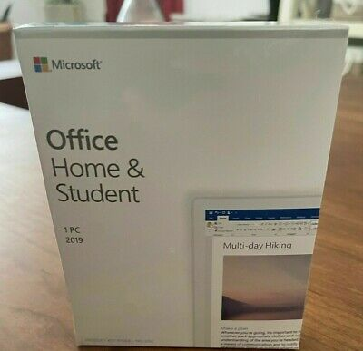 $ CDN99.56 • Buy MS Office Home And Student 2019 1 Device Windows 10 PC Only Product Key Card