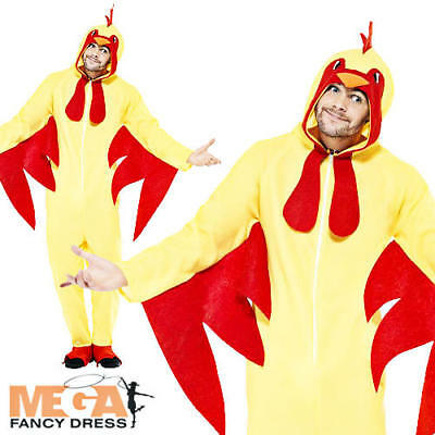 £19.99 • Buy Chicken Jumpsuit Adults Fancy Dress Farm Bird Animal Mens Ladies Costume Outfit