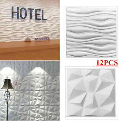£41.50 • Buy 3D Wall Panels 50CM PVC Decorative Wall Panel Tiles Cladding Boards High Quality