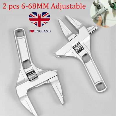 £8.69 • Buy 2pcs Adjustable 6-68MM Convenient Large Spanner Wrench Opening Plumber Tool
