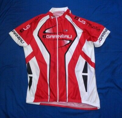 $30 • Buy Garneau LG Team Cycling Bicycle Jersey Full Zip With Back Pockets Size XL