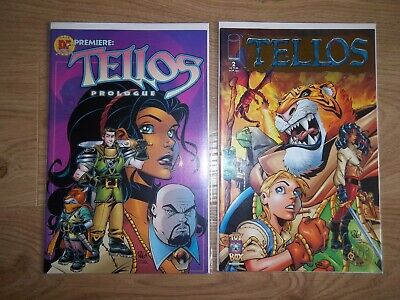 £4.95 • Buy 2 X DF Dynamic Forces Comics COA Tellos Prologue #1 And #2 Gold Foil Toy Box