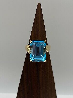 £276.79 • Buy Solid 14k Gold Ring With Blue Topaz