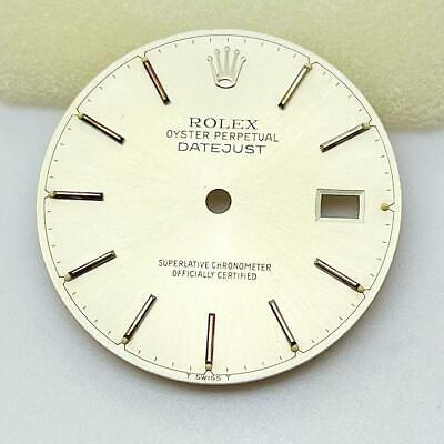 $ CDN124.82 • Buy Genuine Rolex Datejust 16014 16234 Watch Dial Silver Color (cal.3035, 3135)