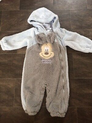 £6.99 • Buy 18-24 Months Disney Mickey Mouse Pramsuit/snowsuit . Worn Once!