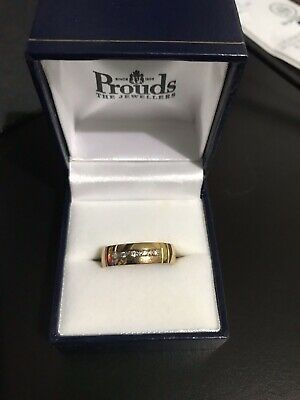 AU260 • Buy Gold Band 9ct With 5 Diamond - New
