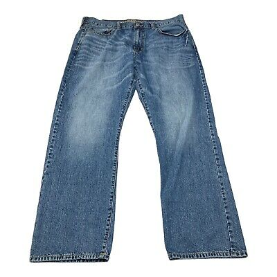 $21.99 • Buy American Eagle Mens Jeans 36x30 (Tag 36x32) Distressed Relaxed Straight Med Wash