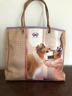£29 • Buy Anya Hindmarch Satin & Leather Photo Bag Collie Dog Hair-rollers