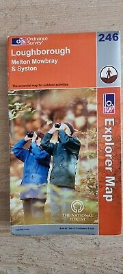 £2.99 • Buy Loughborough, Melton Mowbray And Syston By Ordnance Survey  246