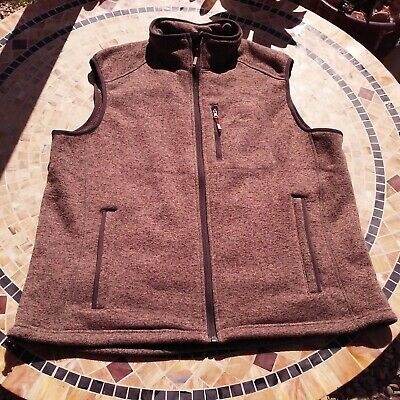 $38.88 • Buy Orvis Fleece Vest Size-XL Zipper Pockets Toggles Brown Fishing Camping Firepit
