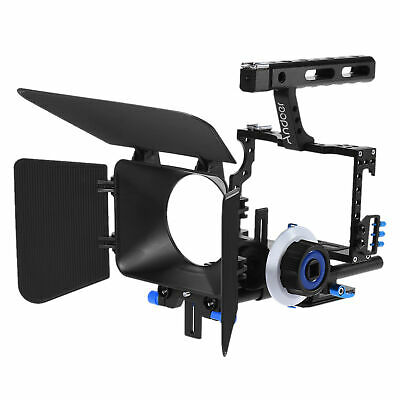 £96.05 • Buy Andoer Camera Video Cage Rig Kit+15mm RodFollow  Handle Grip For DSLR I0X1