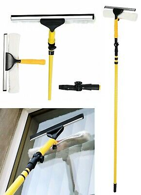 £13.99 • Buy 3.5M Telescopic Window Squeegee Pole Glass Dust Cleaner Brush Extendable Kit UK