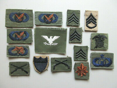 $9.95 • Buy U.s Military Uniform Ranks Officer Stripes Collectible Patch Lot