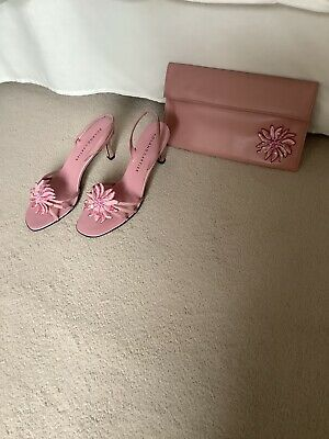 £19.99 • Buy Roland Cartier Pink Leather Sandals And Matching Clutch Size Eur 38