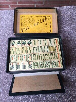 $129 • Buy Vintage Complete Antique Mah Jongg Wood Hand Painted Set.1930s. Nice Condition.