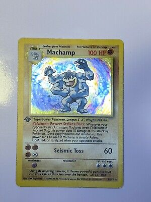 $5.99 • Buy Machamp 1st Edition Holo Shadowless Mint Condition