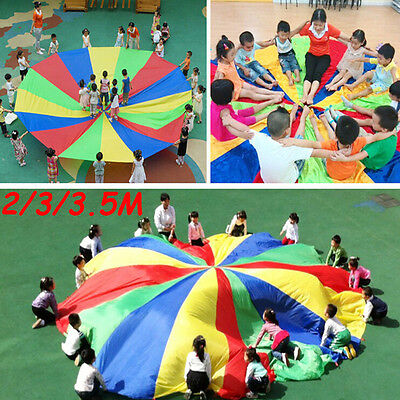 £11.29 • Buy Kids Childrens Play Rainbow Parachute Outdoor Game Family Exercise Sport Tsw