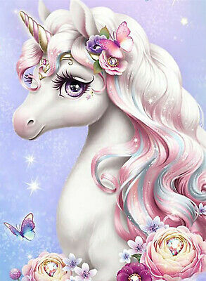 AU6.56 • Buy Full Drill Butterfly Unicorn 5D Diamond Painting Cross Stitch Embroidery Wall