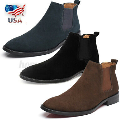 $28.02 • Buy Men Classic Casual Ankle Boots Leather Dress Slip-on Shoe Casual Boots Size USA