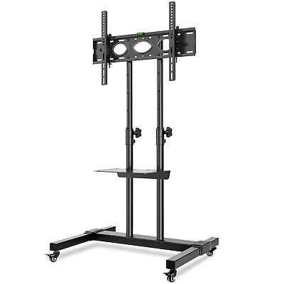 £62.99 • Buy Tall Rolling Movable On Wheels TV Mobile Trolley TV Stand 32 -70   Holds Up 50kg