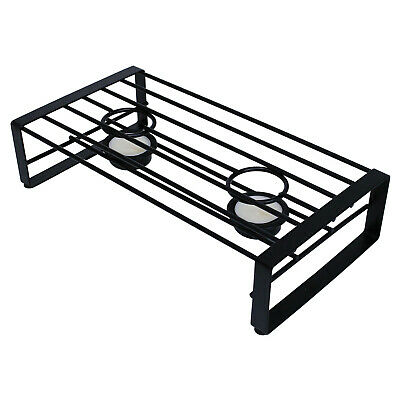 £9.25 • Buy Double Flat Iron Tealight Candle Food Warmer Chafing Dish Buffet Warming Stand