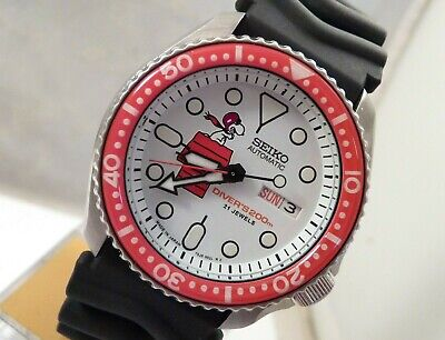 $ CDN151.74 • Buy Seiko Ceramic Snoopy Red Baron Automatic Divers Day Date Watch SKX007 7S26-0020