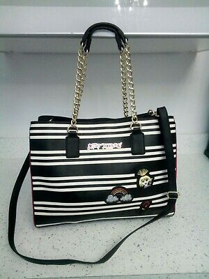 £25 • Buy Medium Betsey Johnson Black And White Quirky Bag. Excellent Condition