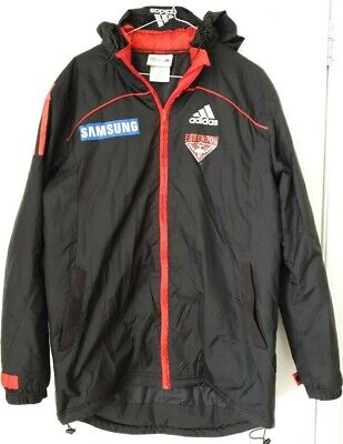 AU22.95 • Buy Essendon Bombers Black Adidas AFL Winter Hooded Jacket Size S Hardly Worn In VGC