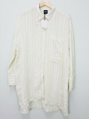 £34.48 • Buy ZARA Womens Size S Or 10 / US 6 Striped Oversized Maternity Shirt Top NEW + TAGS