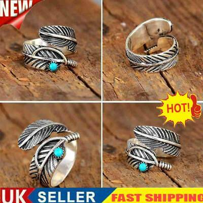 £4.31 • Buy Navajo Indian Handmade Sterling Silver Turquoise Feather Ring, Adjustable UK