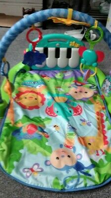 £25 • Buy Fisher BMH49 Kick And Play Piano Gym Baby Play Mat - Blue And Misc Toys Bundle
