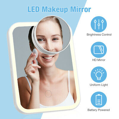 £8.99 • Buy 10X Magnifying LED Makeup Mirror With Mirror Folding Mirror Portable Travel