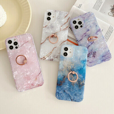 AU14.99 • Buy Sky Marble Phone Case Cover For IPhone 7 8 Plus XR XS 11 12 PRO MAX Ring Holder