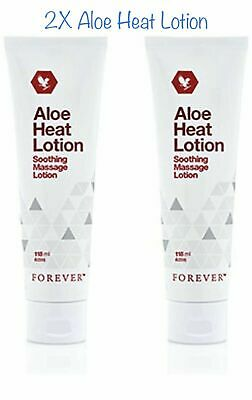 £21.99 • Buy 2x Forever Living Aloe Heat Original Lotion Soothing Massage 118ml New