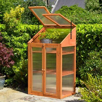 £88.99 • Buy Outdoor Wooden Mini Green House Cold Frame Vegetable Flower Planter Grow House