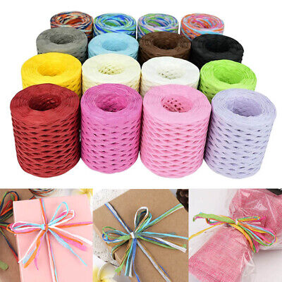 £3.63 • Buy 200M Roll Paper For Cord Crafts Twine Rope String Raffia Scrapbook DIY Craft New