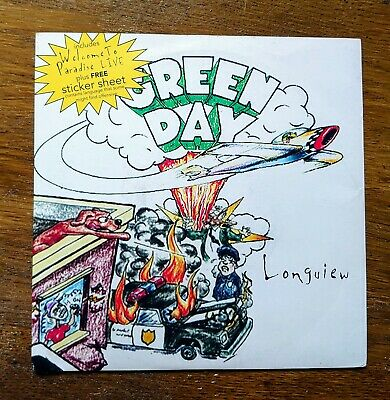 """£18 • Buy Green Day - Longview 7"""" Single With Partial Sticker Sheet"""