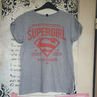 £6.50 • Buy Womans Superman Supergirl Logo Grey Short Sleeved T Shirt Size Small Used