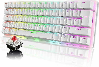 AU52.19 • Buy AU 60% Mechanical Gaming Keyboard Wired Type-C 62 Keys UK Layout For Xbox PS4 PC