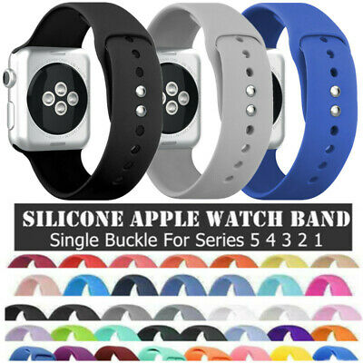 AU7.72 • Buy For Apple Watch Series 654321 SE Sport Silicone Watch Strap Band 38-44mm