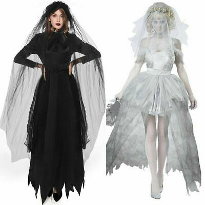 £15.69 • Buy Halloween Ladies Zombie Bride Witch Costume Set Adult Fancy Dress Outfit UK