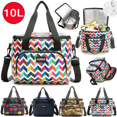 AU21.40 • Buy 10L Portable Lunch Bag Insulated Double Layer Thermal&Cooler Food Bags Storage