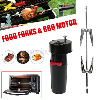 £6.59 • Buy Electric BBQ Barbecue Rotisserie Spit Kit Roast Motor Meat Chicken Rotating Fork