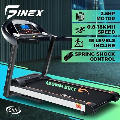 AU949.90 • Buy Finex LCD Auto Electric Treadmill Incline Fit Home Gym Exercise Machine Fitness