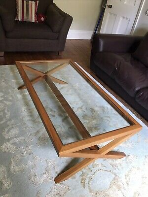 £180 • Buy Heal's Wood And Glass Coffee Table.  Really Lovely